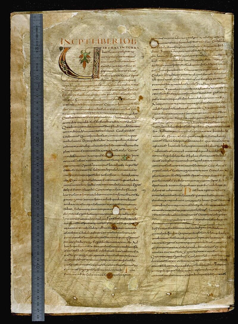 Angers, Bibl. mun., ms. 0002, f. 001v - vue 1