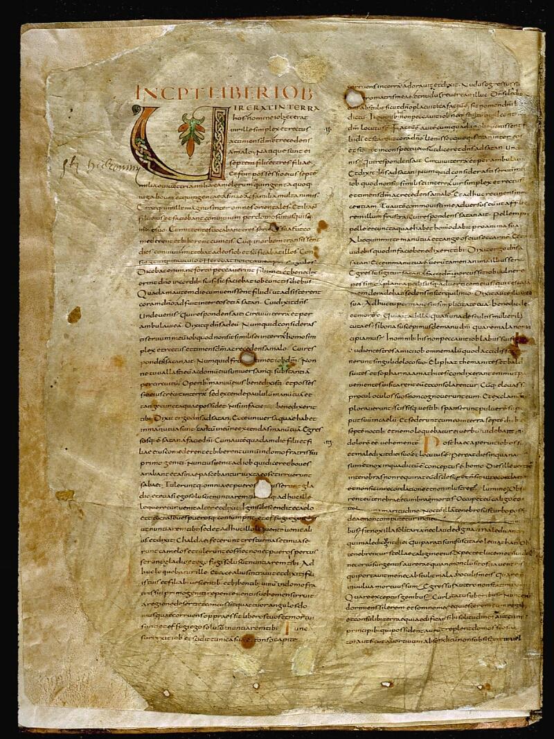 Angers, Bibl. mun., ms. 0002, f. 001v - vue 2