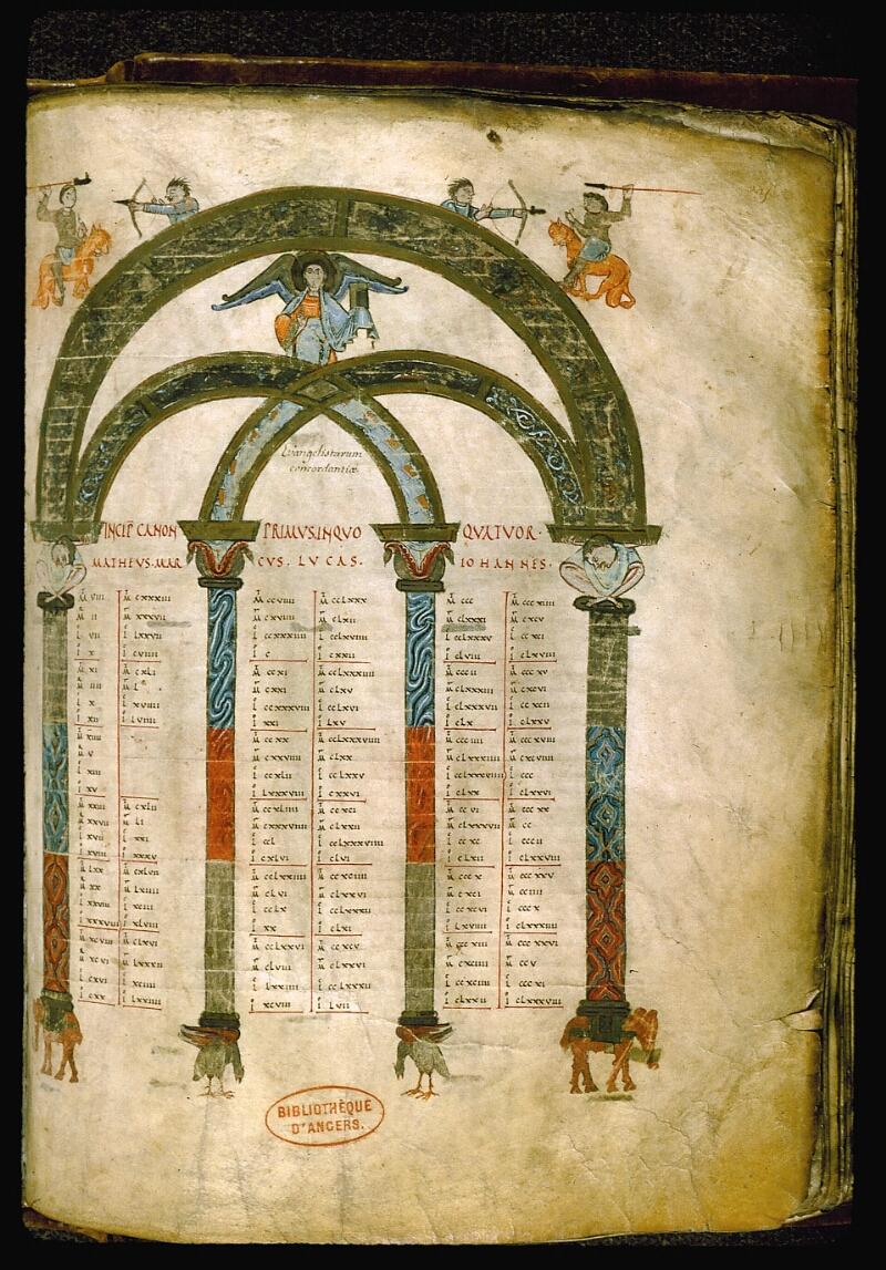 Angers, Bibl. mun., ms. 0004, f. 205 - vue 1