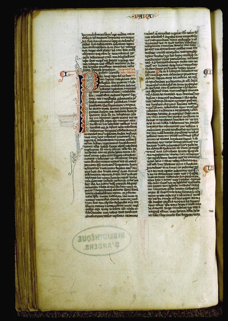 Angers, Bibl. mun., ms. 0007, f. 061v - vue 1