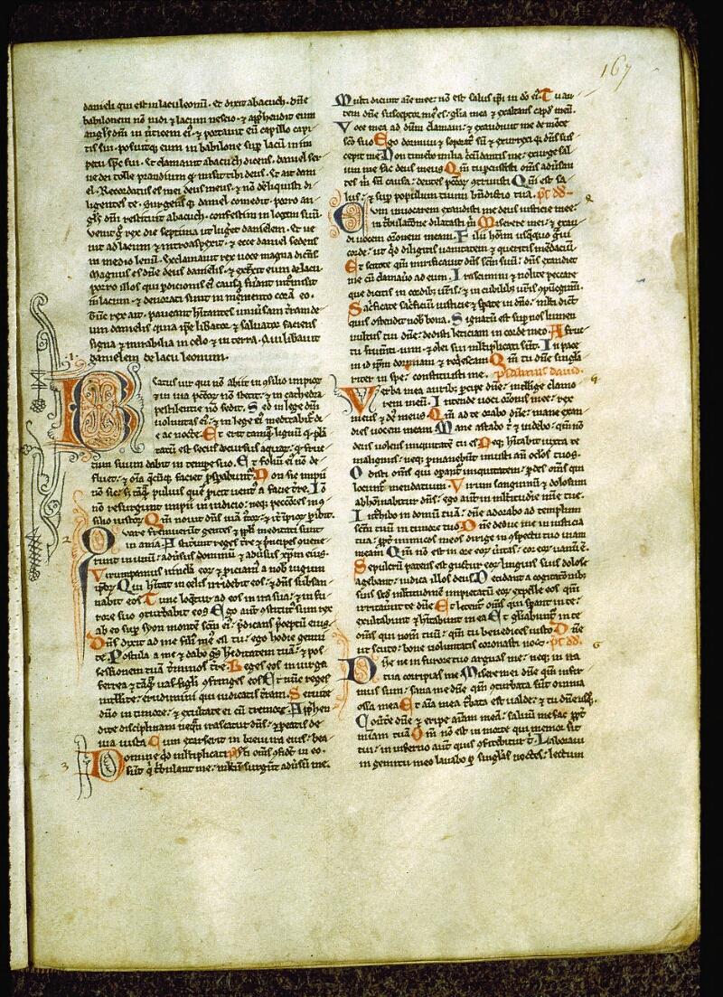 Angers, Bibl. mun., ms. 0008, f. 167 - vue 1