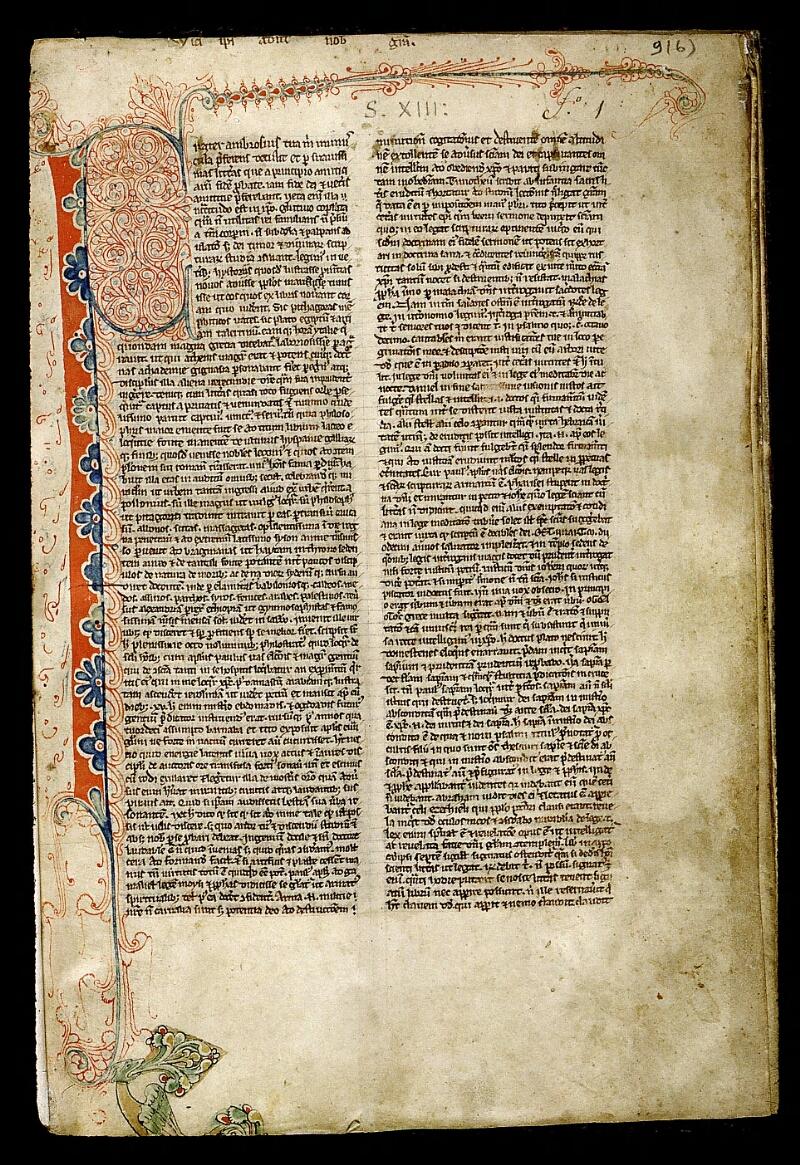 Angers, Bibl. mun., ms. 0009, f. 001 - vue 2