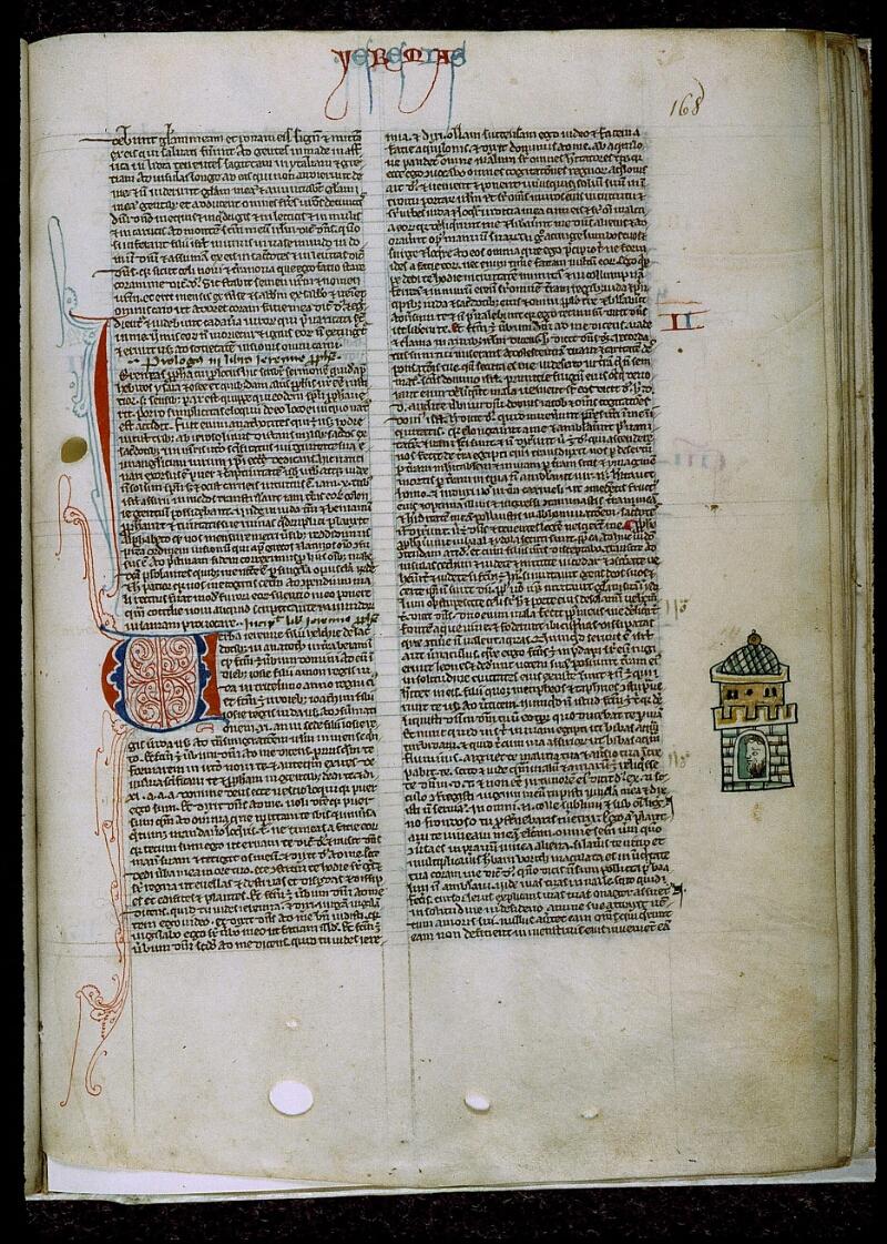 Angers, Bibl. mun., ms. 0009, f. 168 - vue 1