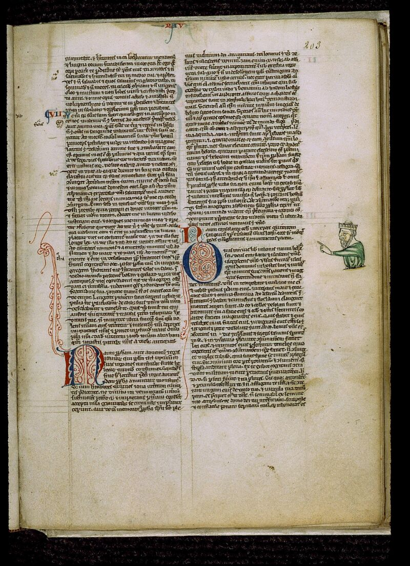 Angers, Bibl. mun., ms. 0009, f. 203 - vue 1