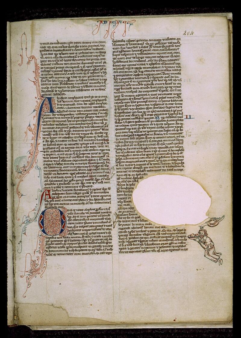 Angers, Bibl. mun., ms. 0009, f. 204 - vue 1