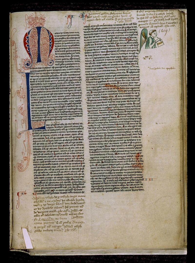 Angers, Bibl. mun., ms. 0009, f. 209 - vue 1