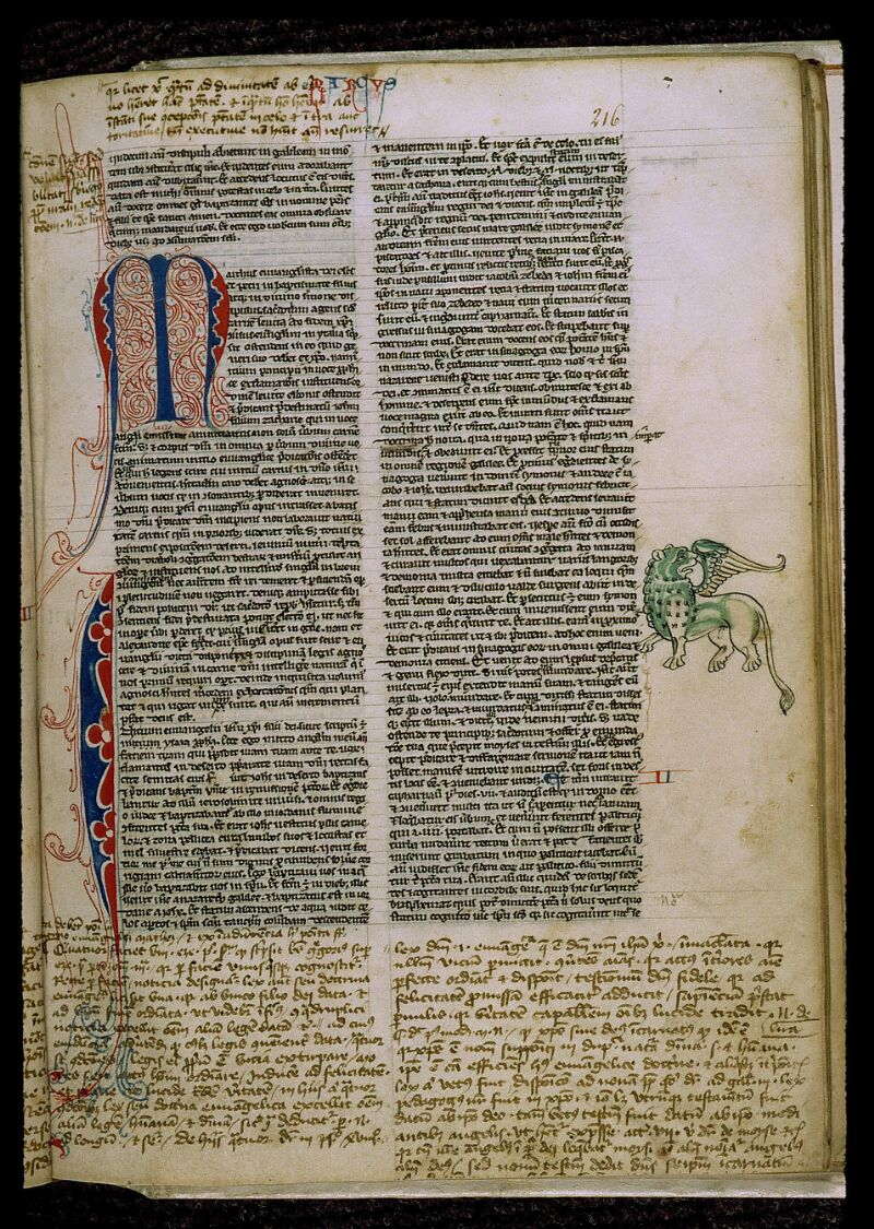 Angers, Bibl. mun., ms. 0009, f. 216 - vue 1
