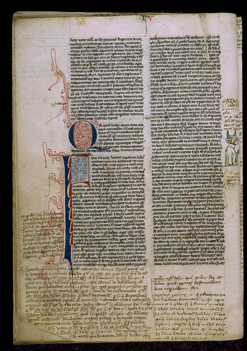 Angers, Bibl. mun., ms. 0009, f. 220v - vue 1