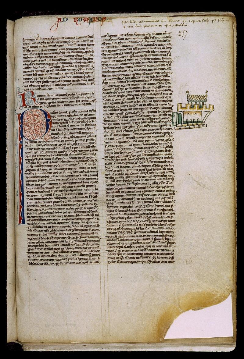 Angers, Bibl. mun., ms. 0009, f. 257 - vue 1