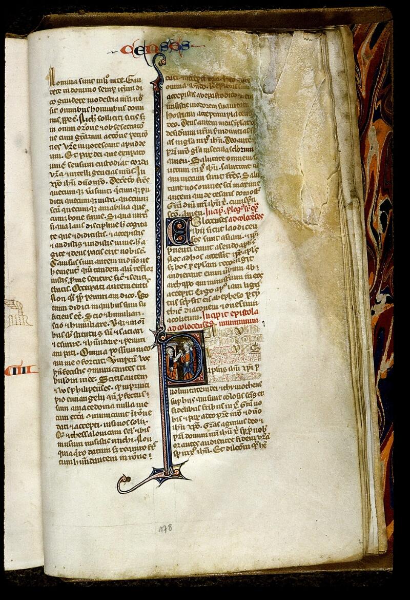 Angers, Bibl. mun., ms. 0013, f. 178 - vue 1