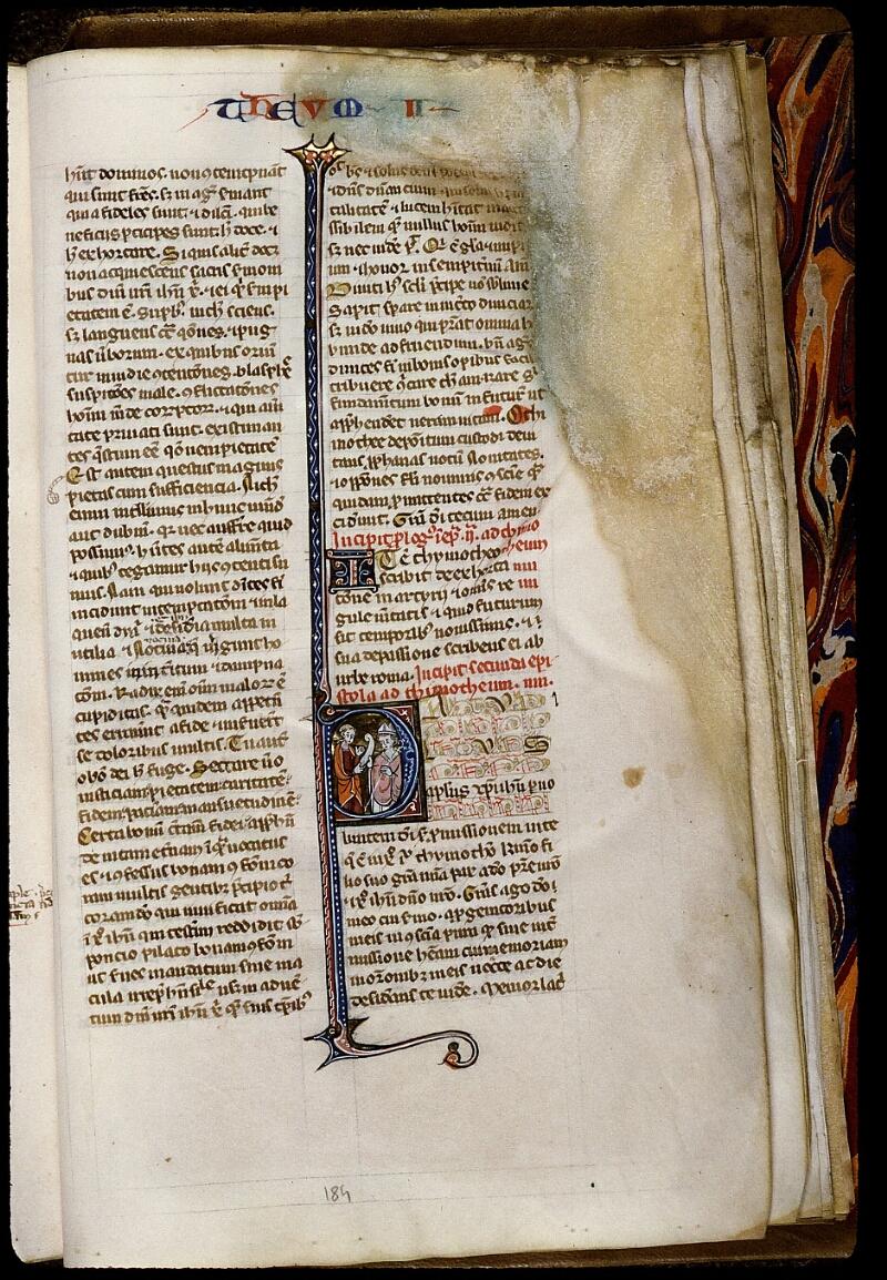 Angers, Bibl. mun., ms. 0013, f. 184 - vue 1