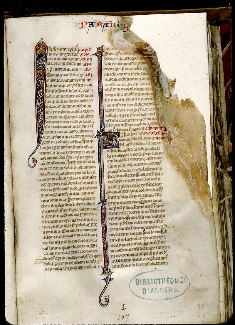Angers, Bibl. mun., ms. 0014, f. 095 - vue 1