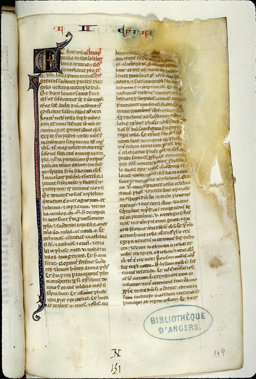 Angers, Bibl. mun., ms. 0014, f. 149 - vue 1