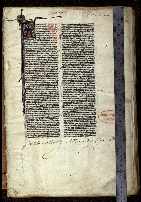Angers, Bibl. mun., ms. 0015, f. 001 - vue 1