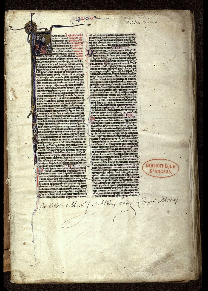 Angers, Bibl. mun., ms. 0015, f. 001 - vue 2
