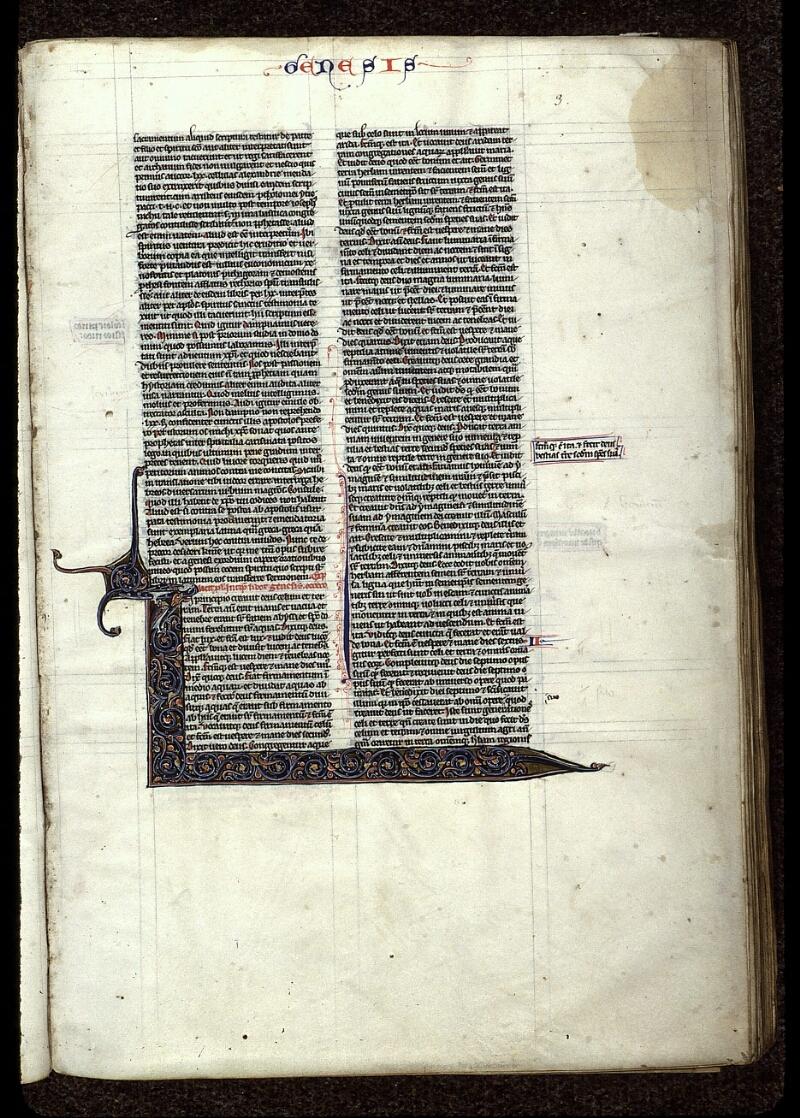 Angers, Bibl. mun., ms. 0015, f. 003 - vue 1
