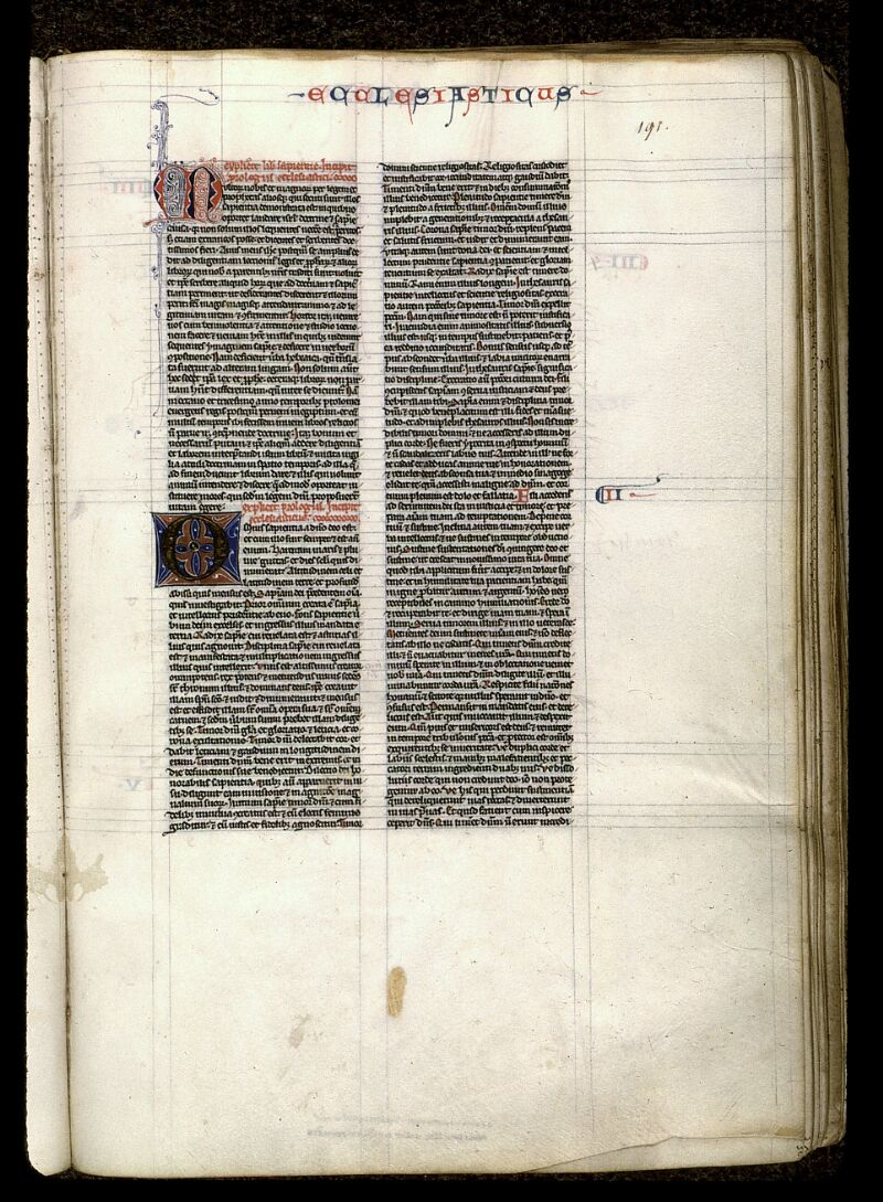 Angers, Bibl. mun., ms. 0015, f. 191 - vue 1