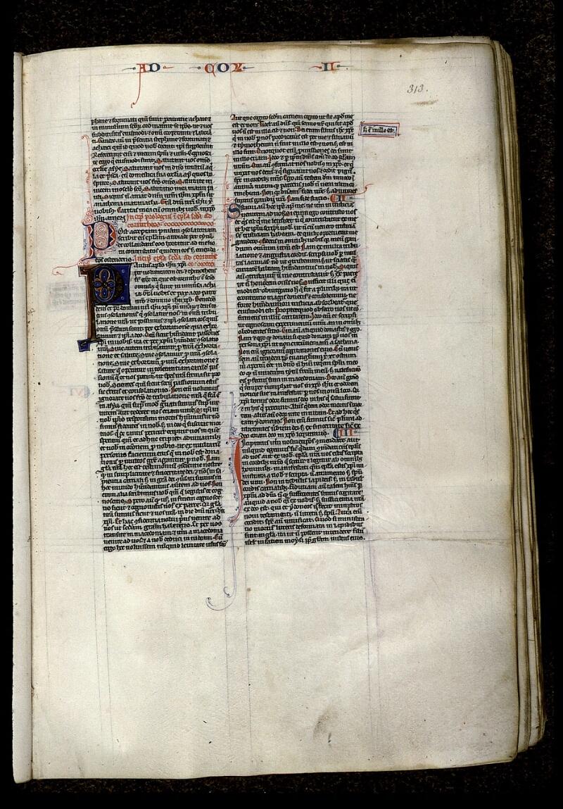 Angers, Bibl. mun., ms. 0015, f. 313 - vue 1