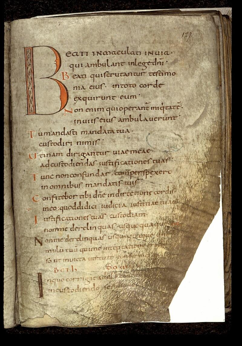Angers, Bibl. mun., ms. 0018, f. 127 - vue 1