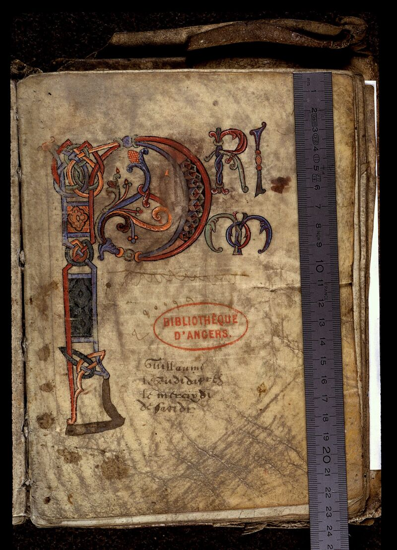 Angers, Bibl. mun., ms. 0019, f. 109 - vue 1