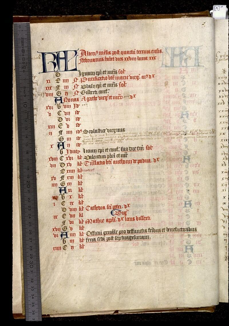 Angers, Bibl. mun., ms. 0020, f. 000I v - vue 1