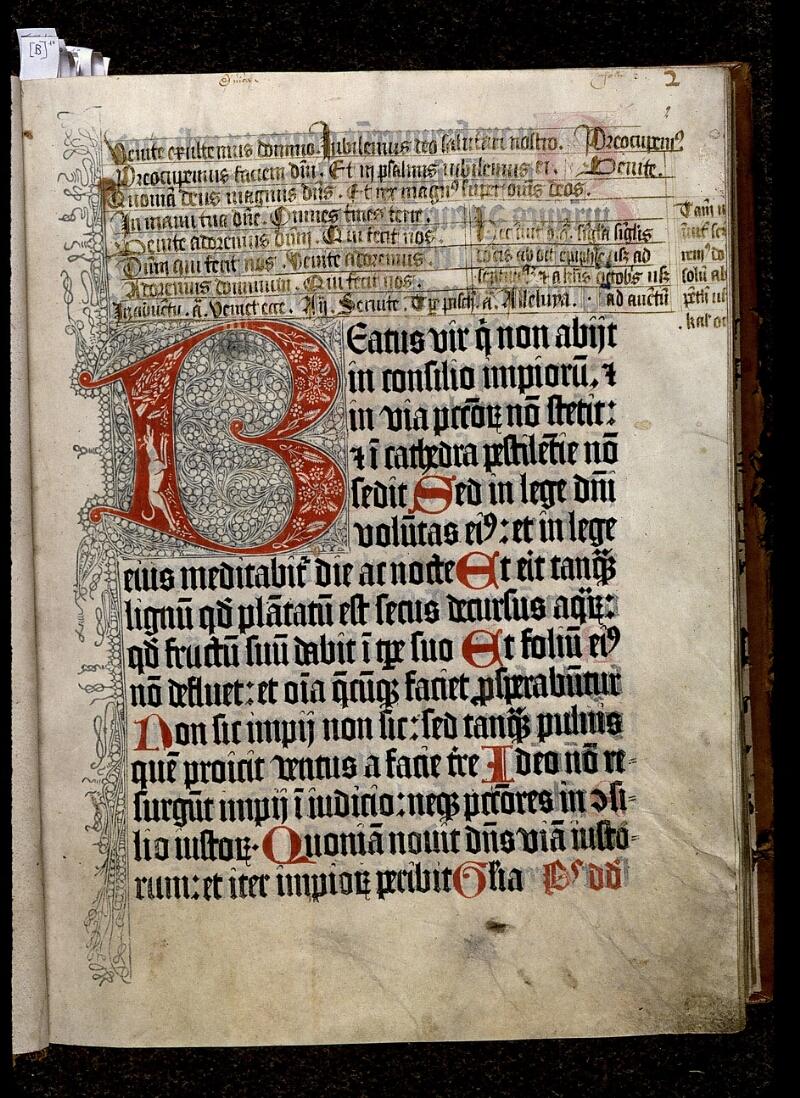 Angers, Bibl. mun., ms. 0020, f. 002 - vue 1