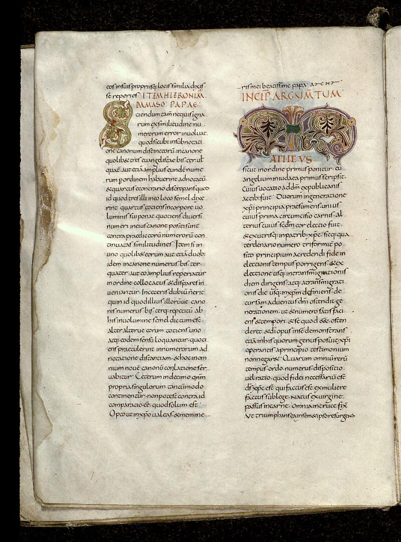 Angers, Bibl. mun., ms. 0021, f. 003v - vue 1