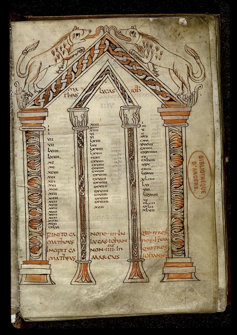 Angers, Bibl. mun., ms. 0024, f. 001 - vue 2