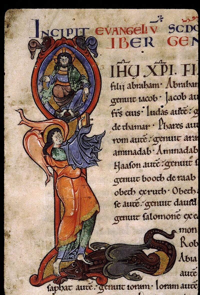 Angers, Bibl. mun., ms. 0025, f. 001 - vue 3