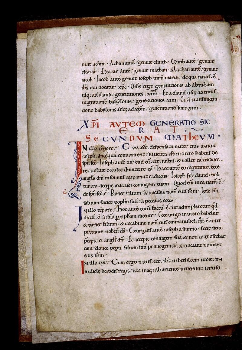Angers, Bibl. mun., ms. 0025, f. 001v - vue 1