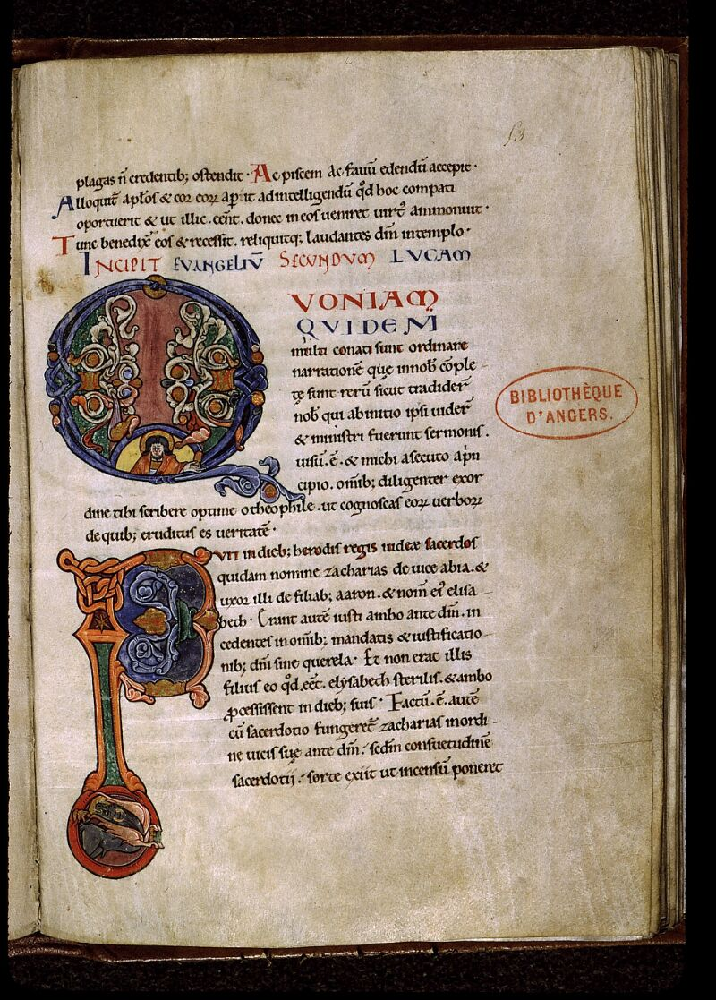 Angers, Bibl. mun., ms. 0025, f. 053 - vue 1
