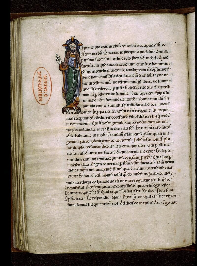 Angers, Bibl. mun., ms. 0025, f. 085v - vue 1