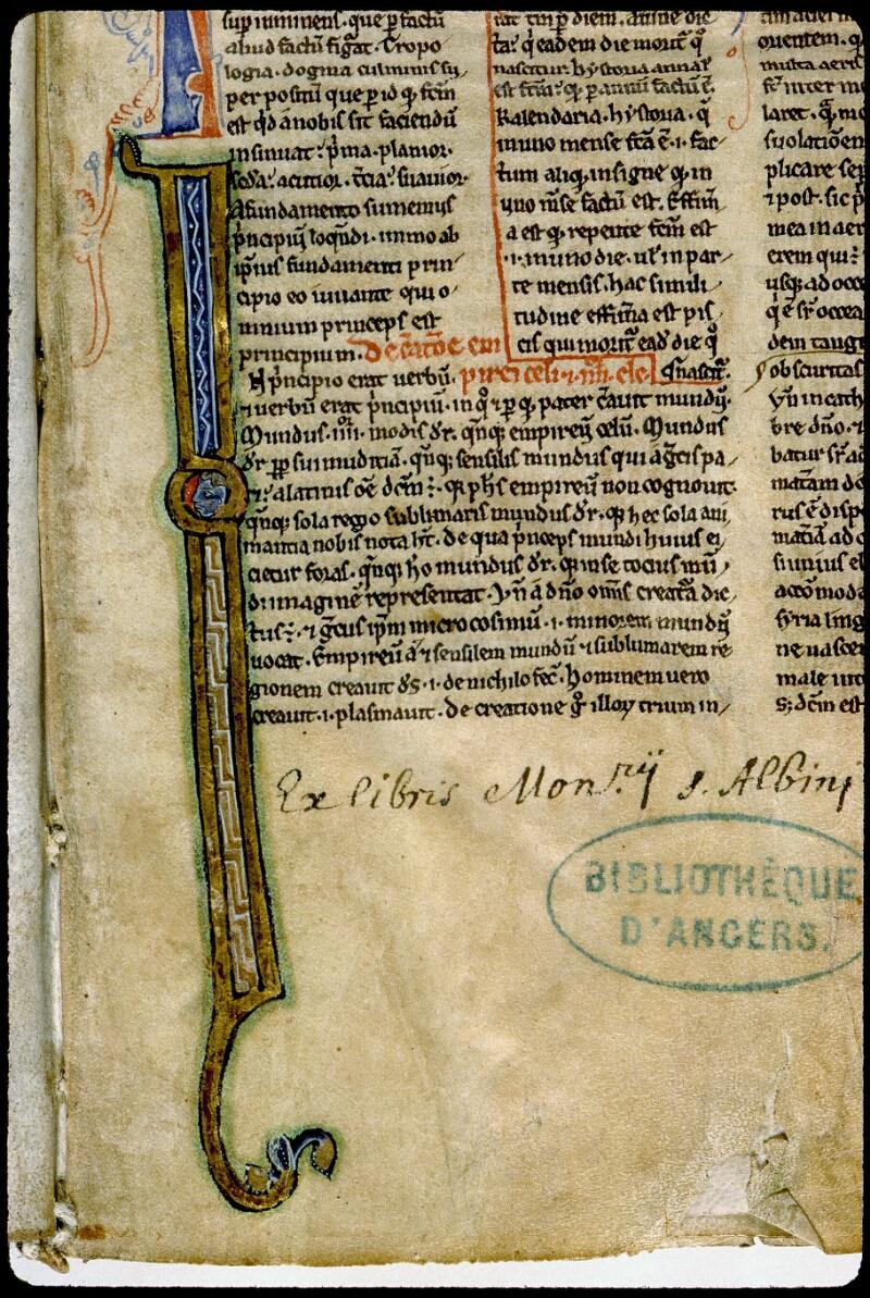 Angers, Bibl. mun., ms. 0026, f. 001 - vue 3