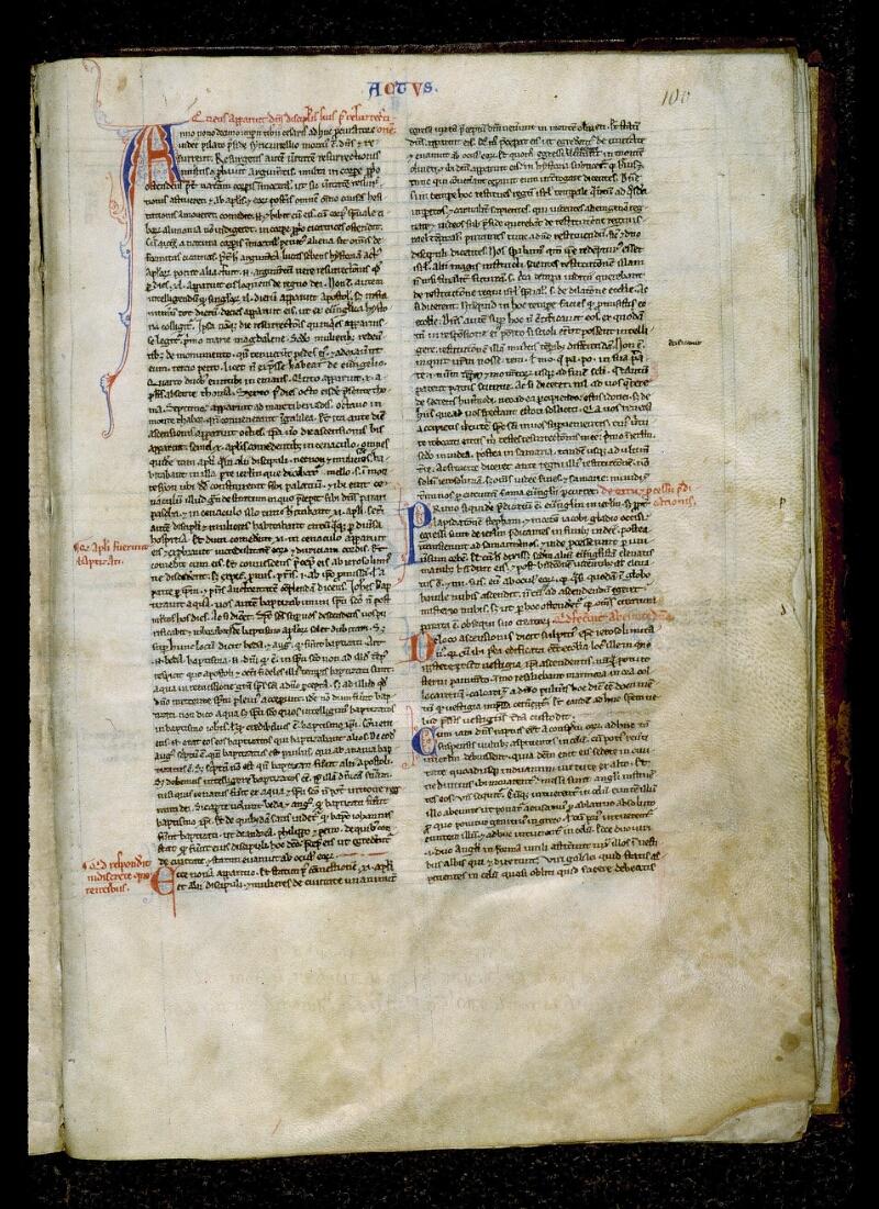 Angers, Bibl. mun., ms. 0026, f. 100 - vue 1