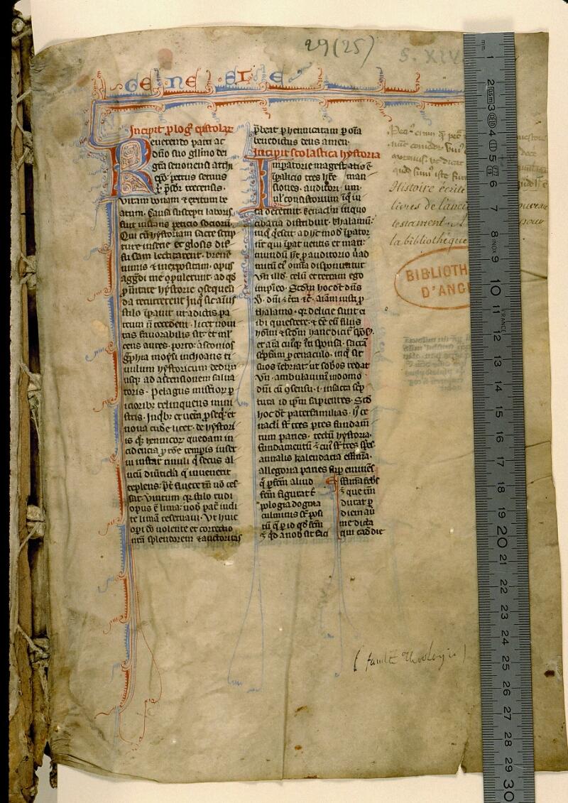 Angers, Bibl. mun., ms. 0029, f. 001 - vue 1