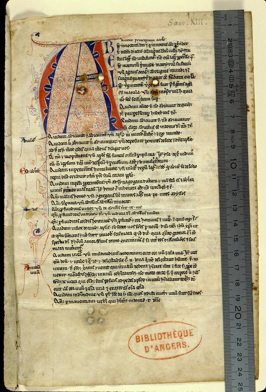 Angers, Bibl. mun., ms. 0032, f. 002 - vue 1