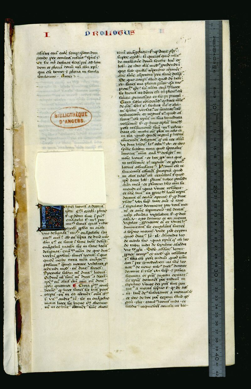 Angers, Bibl. mun., ms. 0036, f. 001 - vue 1