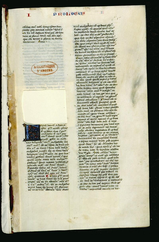 Angers, Bibl. mun., ms. 0036, f. 001 - vue 2