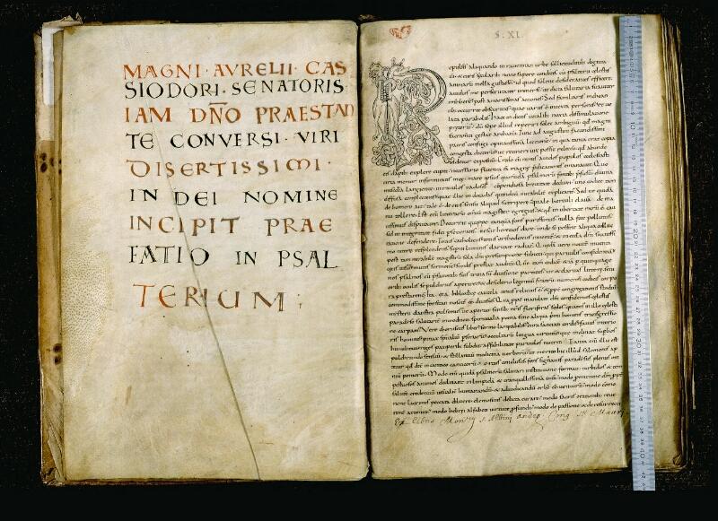 Angers, Bibl. mun., ms. 0043, f. 001v-002 - vue 1