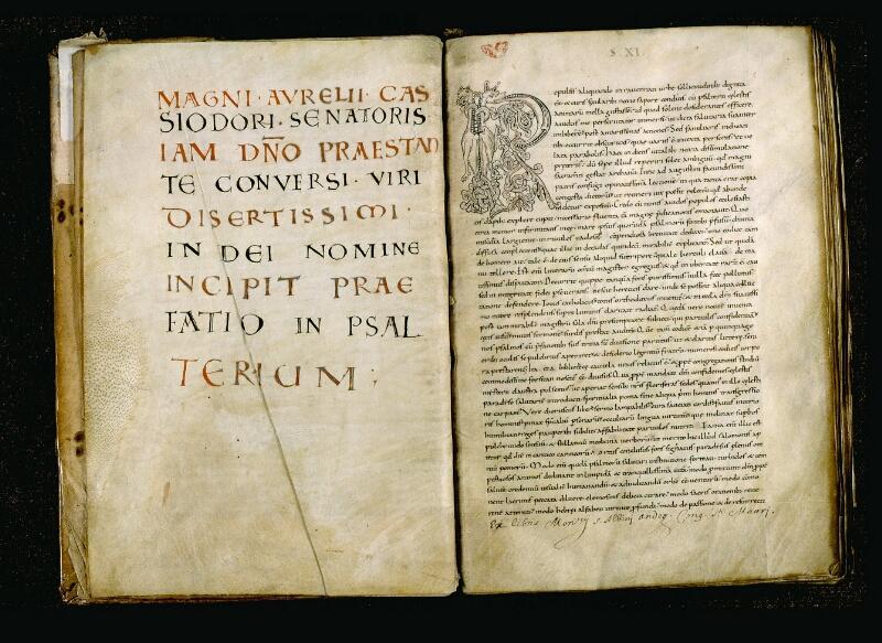 Angers, Bibl. mun., ms. 0043, f. 001v-002 - vue 2