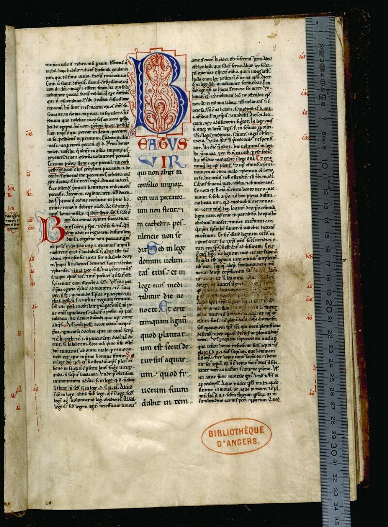 Angers, Bibl. mun., ms. 0049, f. 002 - vue 1