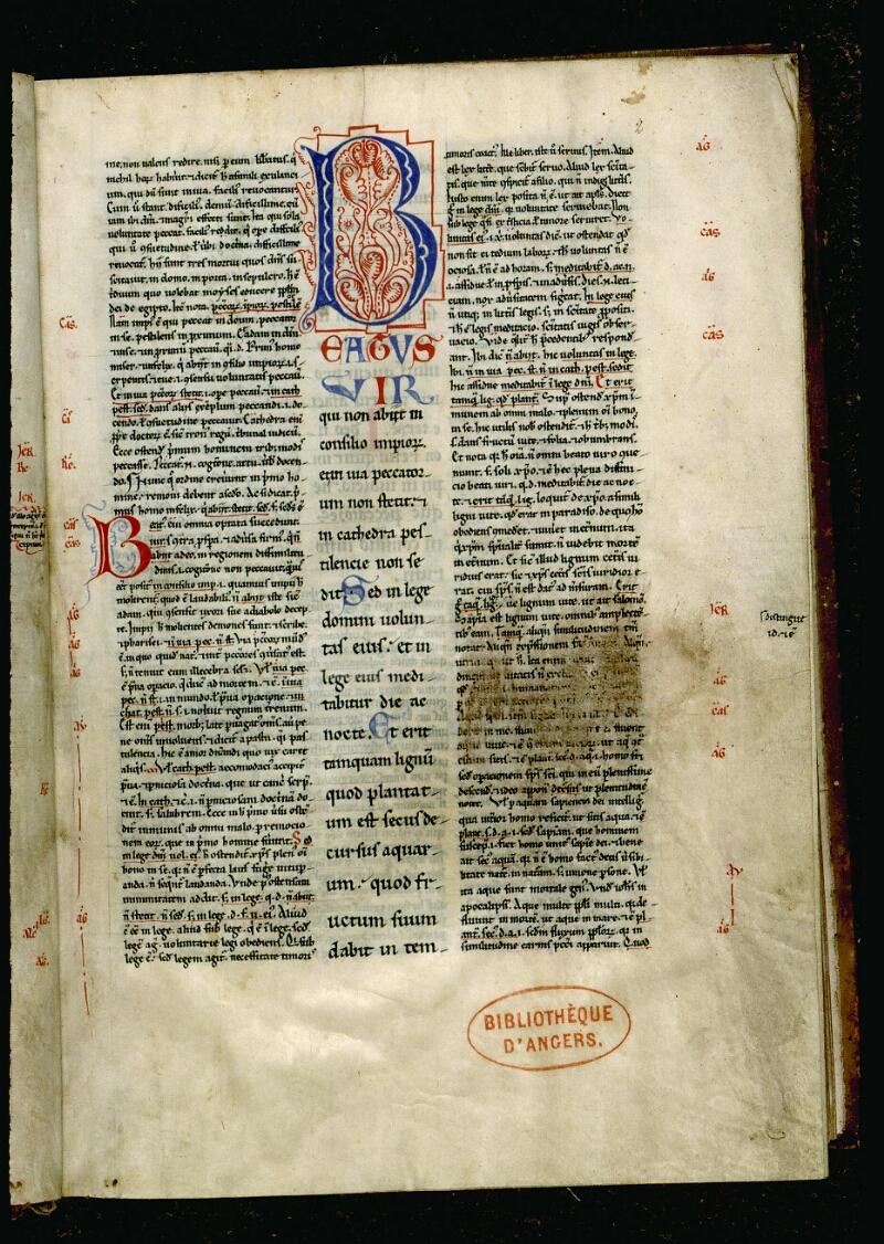Angers, Bibl. mun., ms. 0049, f. 002 - vue 2