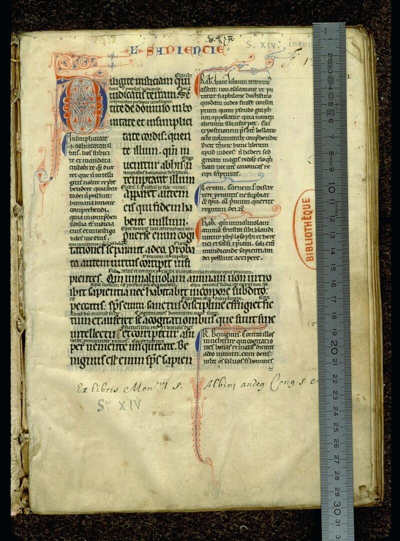 Angers, Bibl. mun., ms. 0052, f. 001 - vue 1