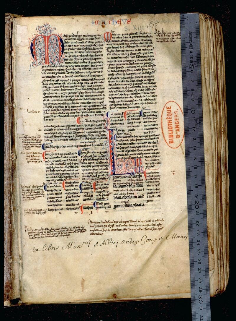 Angers, Bibl. mun., ms. 0056, f. 001 - vue 1