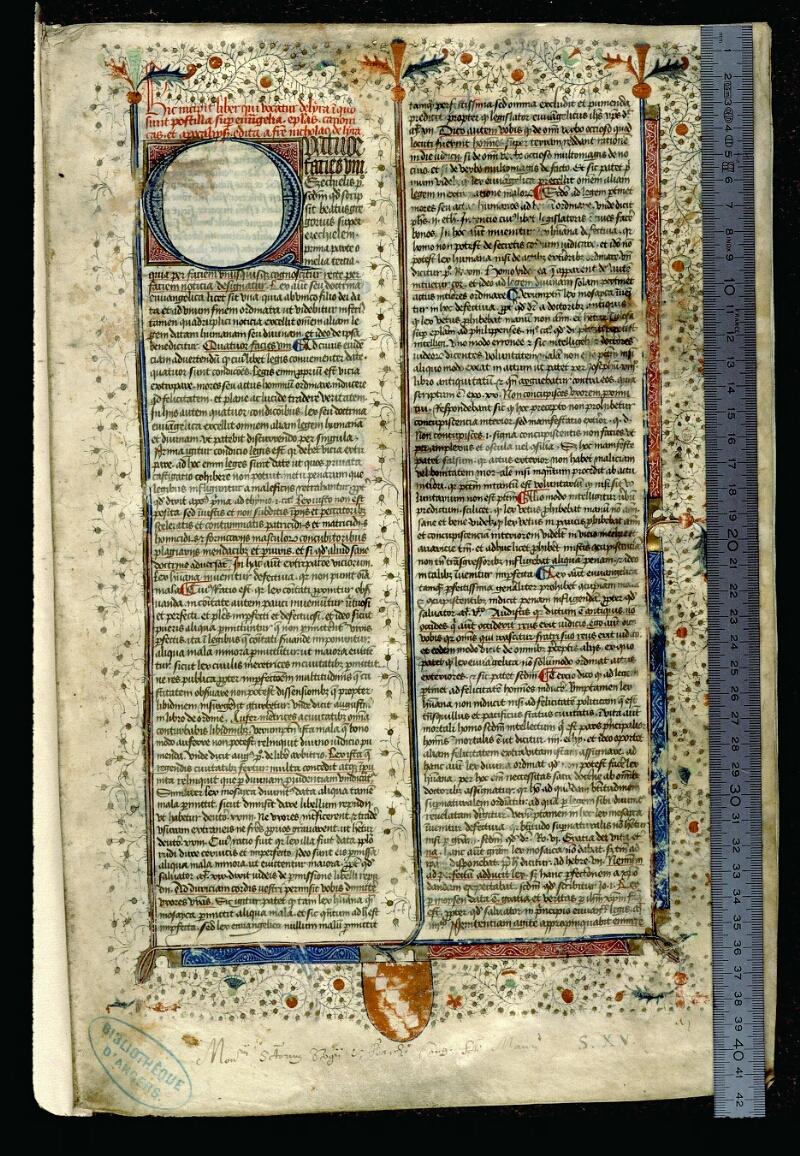 Angers, Bibl. mun., ms. 0057, f. 001 - vue 1