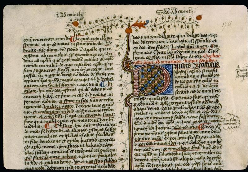 Angers, Bibl. mun., ms. 0057, f. 176 - vue 2