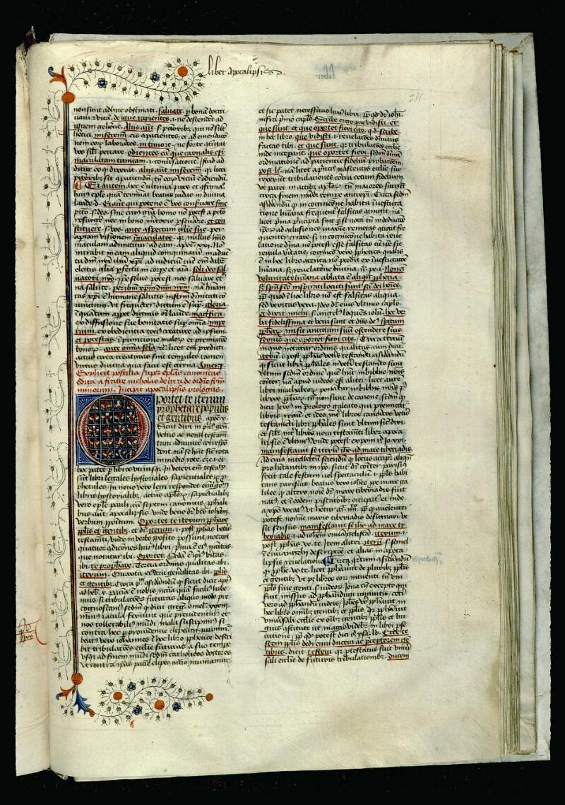 Angers, Bibl. mun., ms. 0057, f. 285 - vue 1