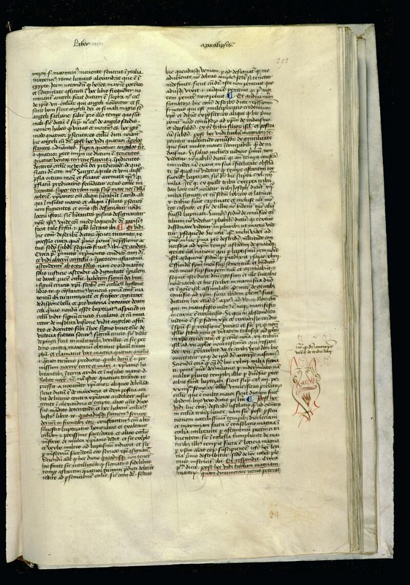 Angers, Bibl. mun., ms. 0057, f. 292 - vue 1