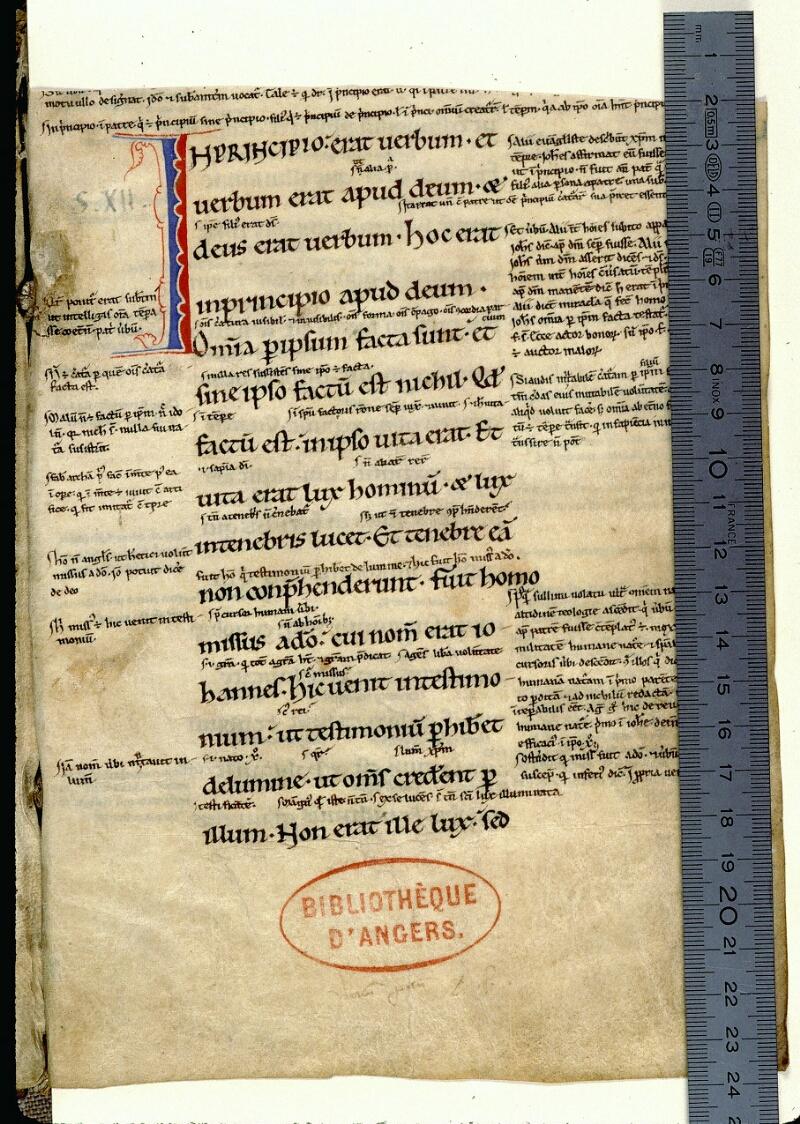 Angers, Bibl. mun., ms. 0064, f. 001 - vue 1