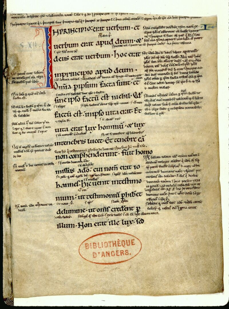 Angers, Bibl. mun., ms. 0064, f. 001 - vue 2